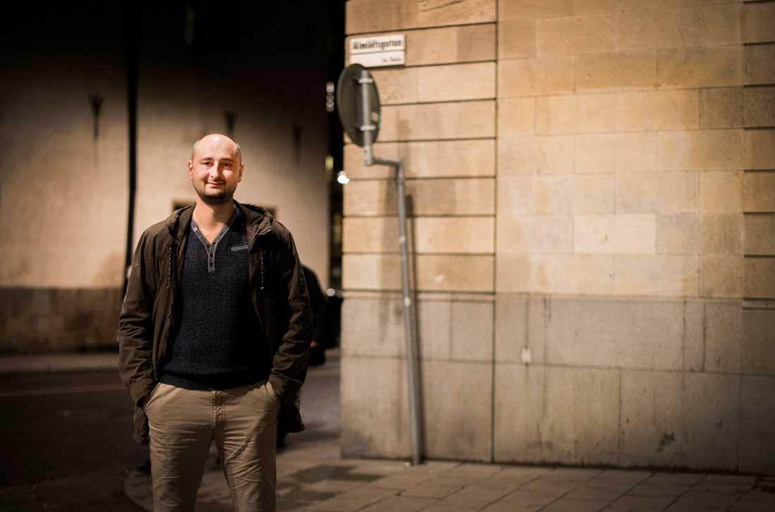 Ryske journalisten och författaren Arkadij Babtjenko i samband med att han tog emot Tucholskypriset i Sverige 2015. Arkivbild.