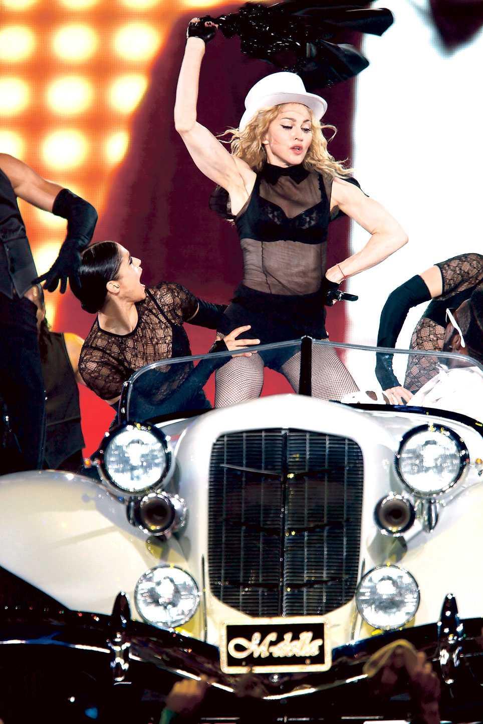 Madonna spelar i Sverige 2011.