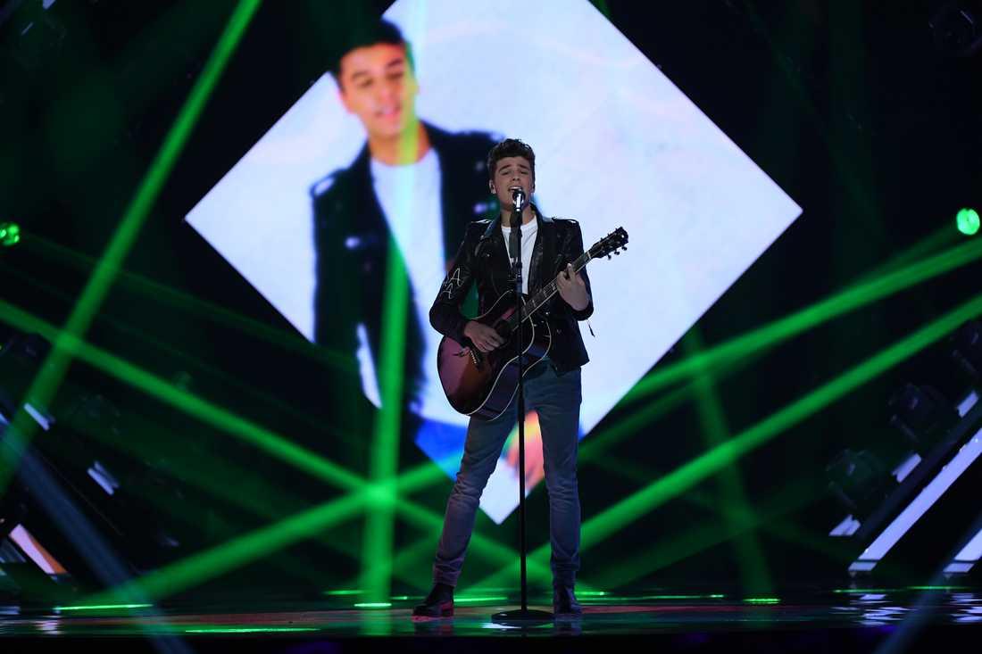Anton Hagman i Melodifestivalens final
