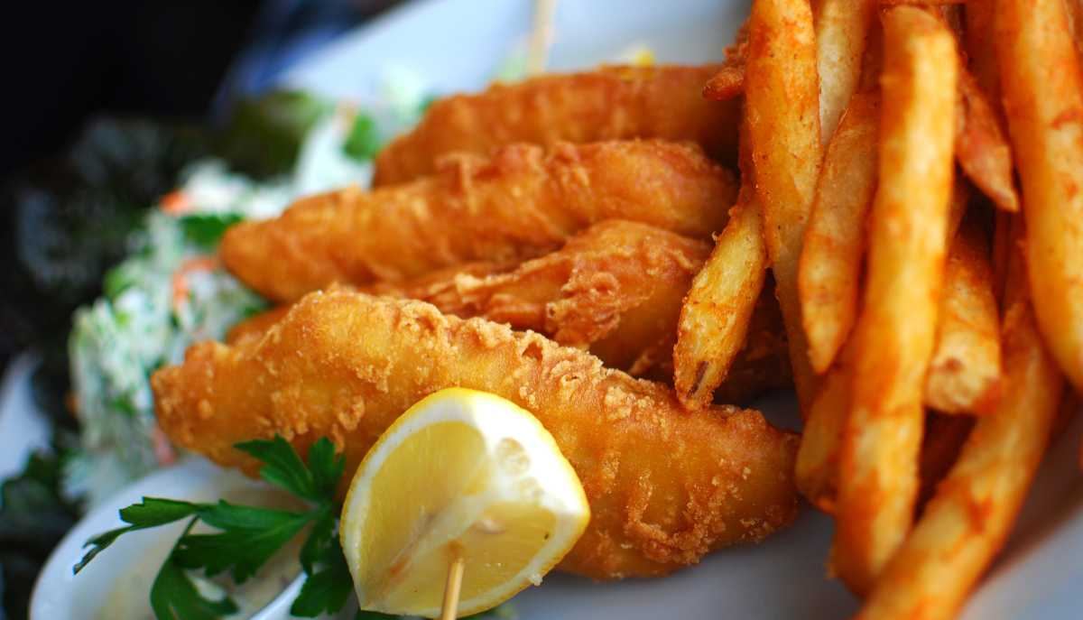 Fish and chips – brittisk favorit.