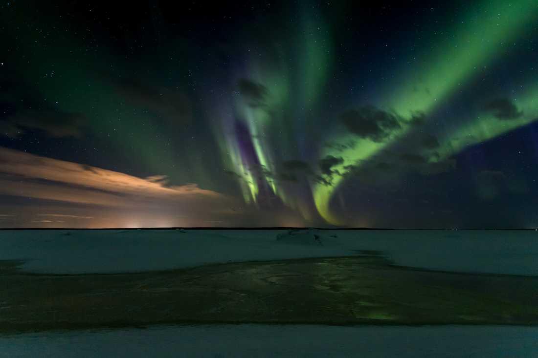 Från ön Malören går det att se norrsken vintertid.