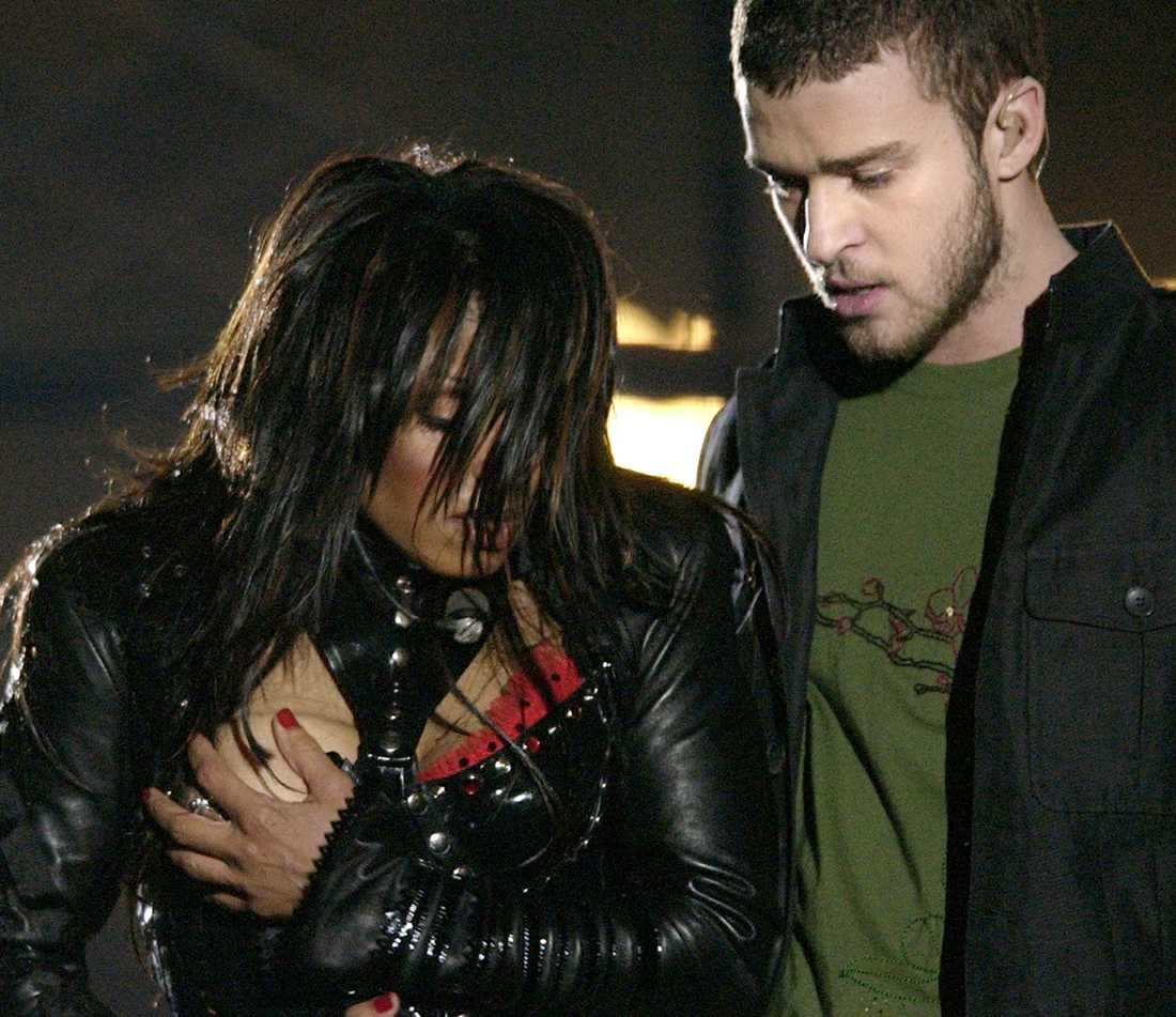 Janet Jackson och Justin Timberlake 2004.