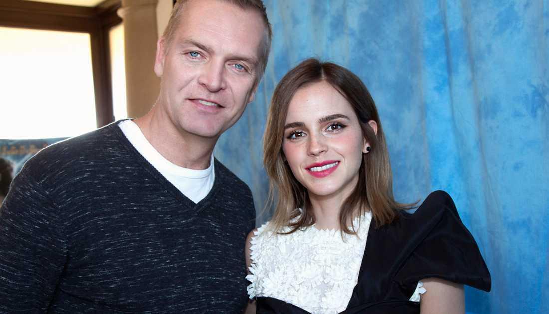 Magnus Sundholm tillammans med Emma Watson.
