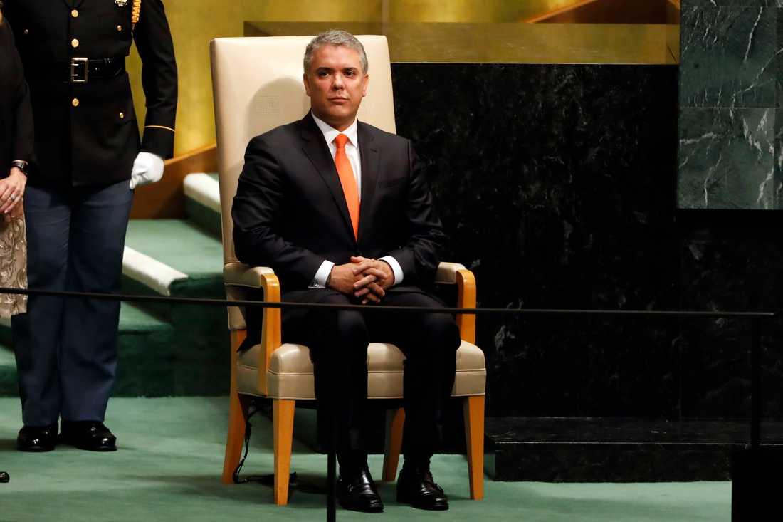 Colombias president Iván Duque. Arkivbild.