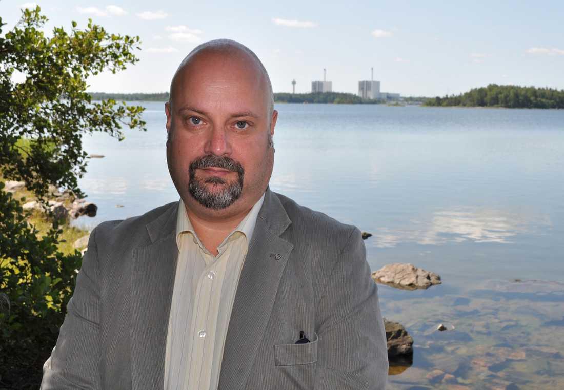 Tomas Hägg, biträdande kommunikationschef vid Forsmarks kärnkraftverk.