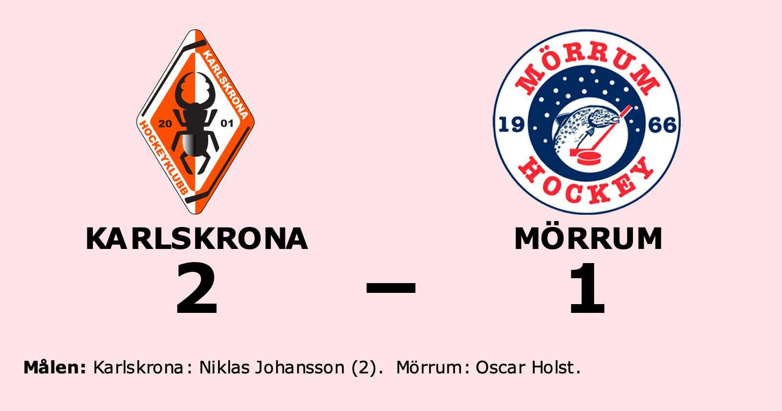 Mörrum föll i jämn match mot Karlskrona