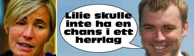 ATTACKEN Det var i programmet Matchpuls som Daniel Kristiansson gick till attack mot kvinnliga tränare, bland andra Lilie Persson.