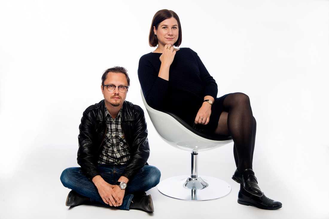 Markus Larsson och Kristin Lundell har en podcast ihop.