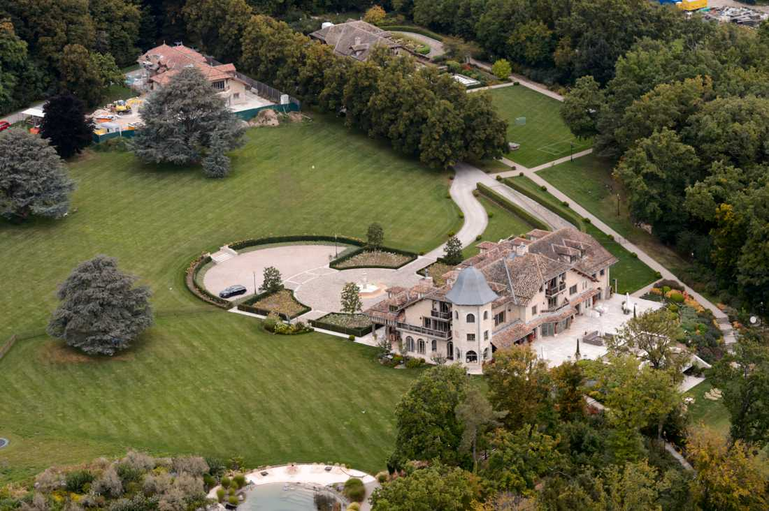 Familjen Schumachers lyxhus vid Genèvesjön.