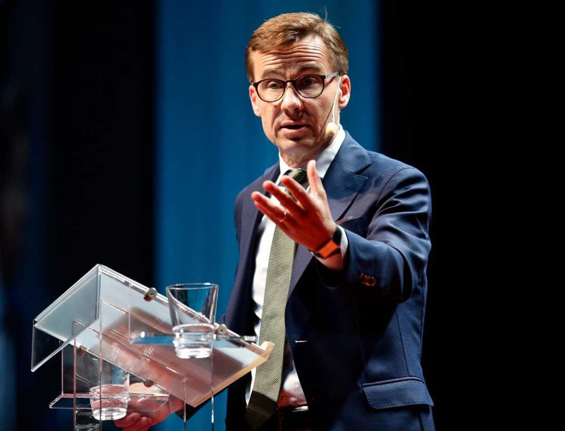 På lördagen höll moderaternas  partiledaren Ulf Kristersson sitt avslutningstal på partiets Sverigemöte.