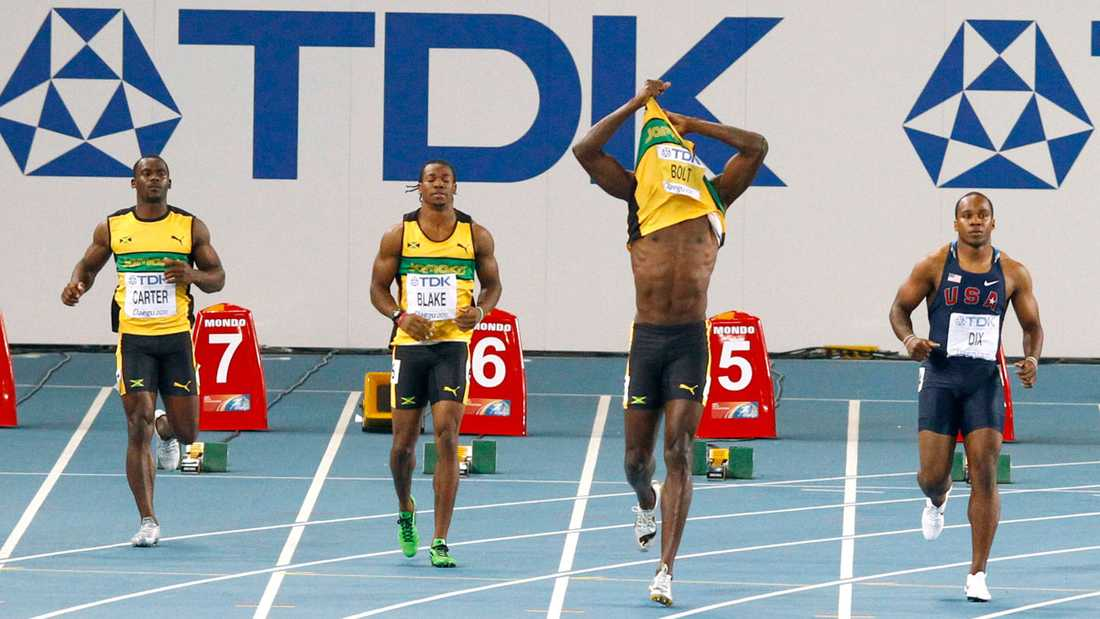 Bolt förstod direkt vad som hade hänt och verkade inte veta vart han skulle ta vägen.