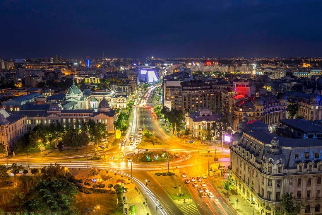 På tredjeplats kommer Bukarest, Rumänien.
