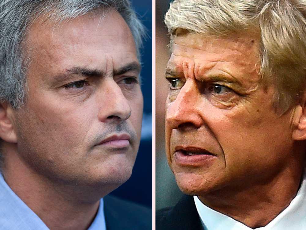 Mourinho och Wenger.
