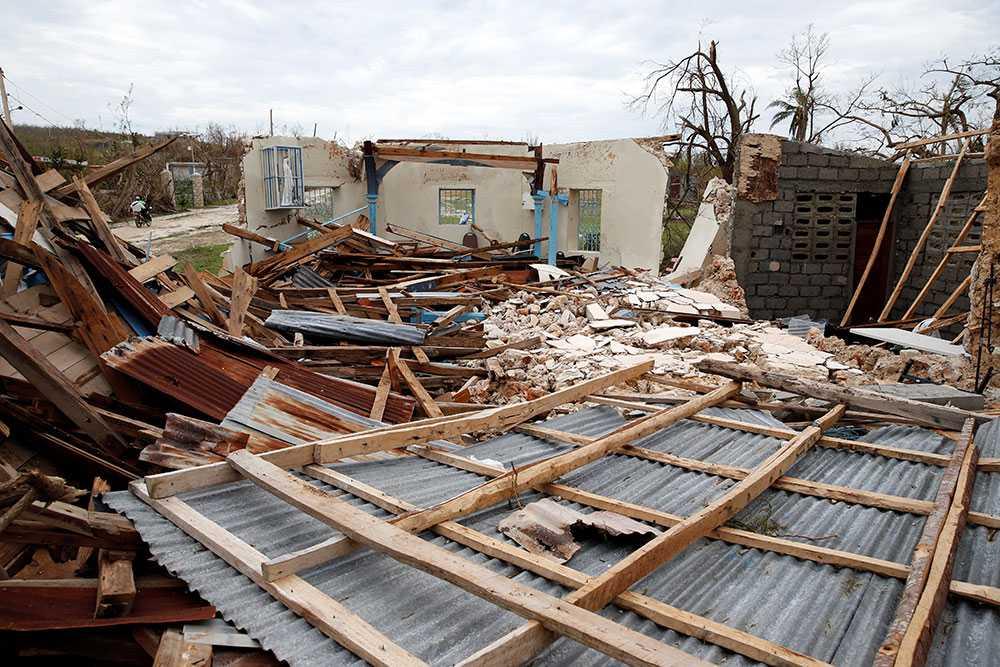 Förstörda hem i Jeremie, Haiti.