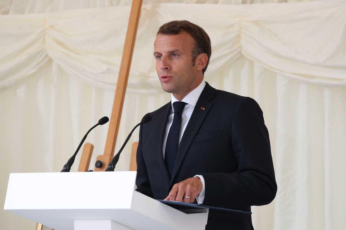 President Emmanuel Macron. Arkivbild.