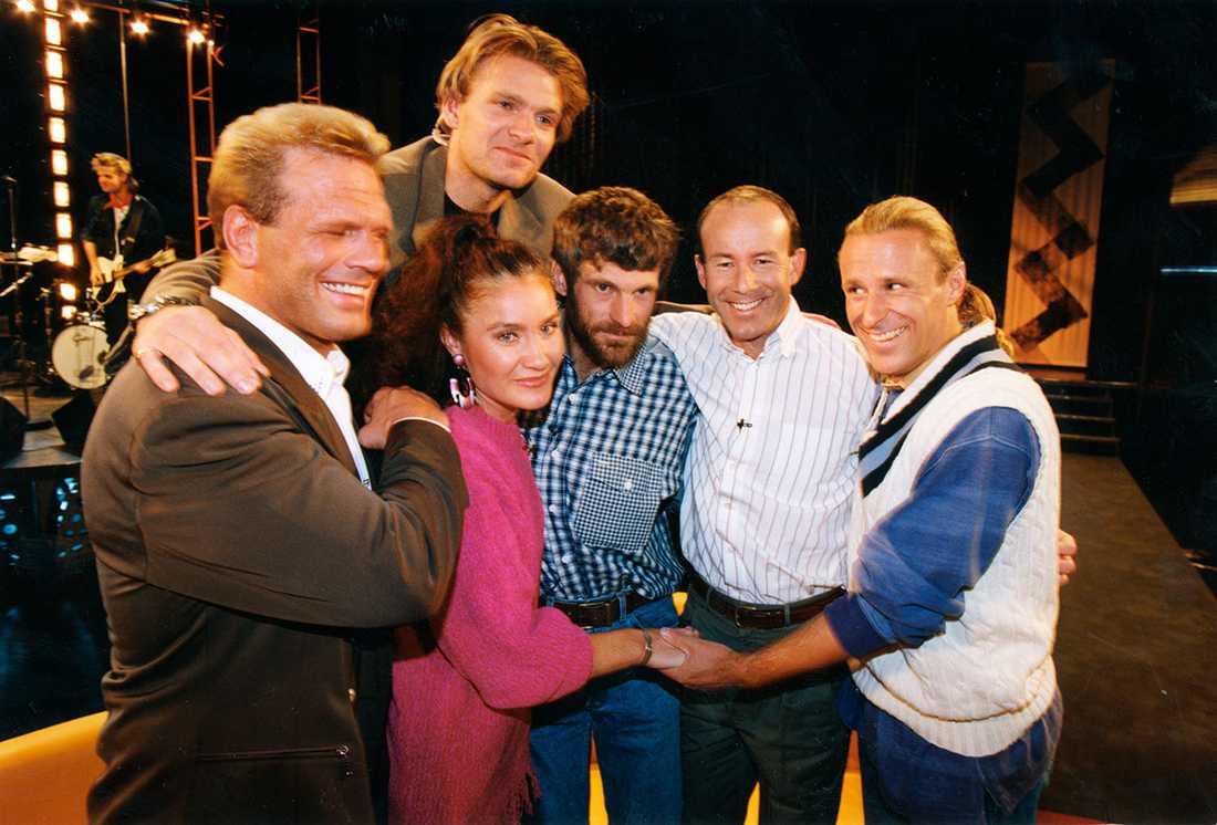 56:orna samlade 1993 lyckades Claes Åkesson samla 56:orna i ett sällsynt möte i tv. Fr.v. Frank Andersson, brottare, Linda Haglund, friidrottare, Thomas Wassberg, längdskidåkare, Ingemar Stenmark, alpin skidåkare och Björn Borg, tennisspelare Sverige.