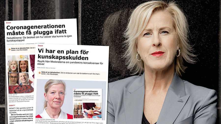 M har en förnuftig och trovärdig plan för att komma till rätta med kunskapsskulden. Nu vill vi se att planen sätts i verket. Partiet är nämligen med och styr i många kommuner och har därmed det direkta ansvaret för skolan. Slutreplik från Åsa Fahlén.
