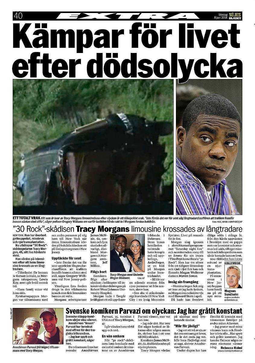 Nöjesbladet 8 juni.