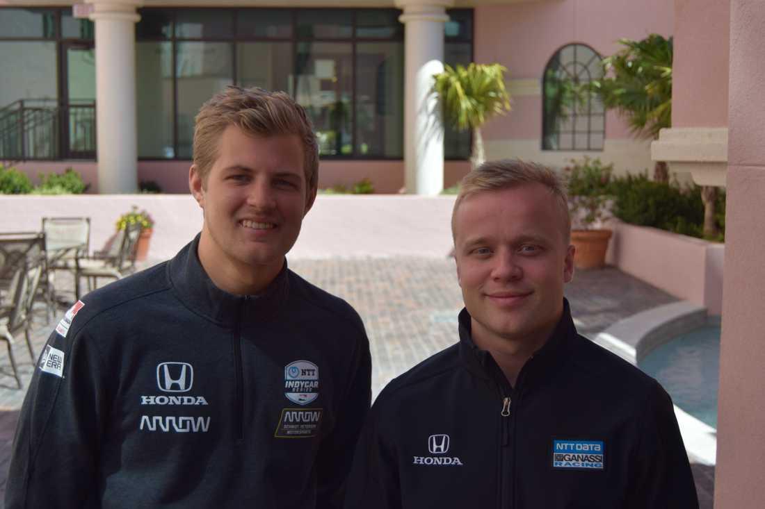 Marcus Ericsson och Felix Rosenqvist inför premiären 2019.