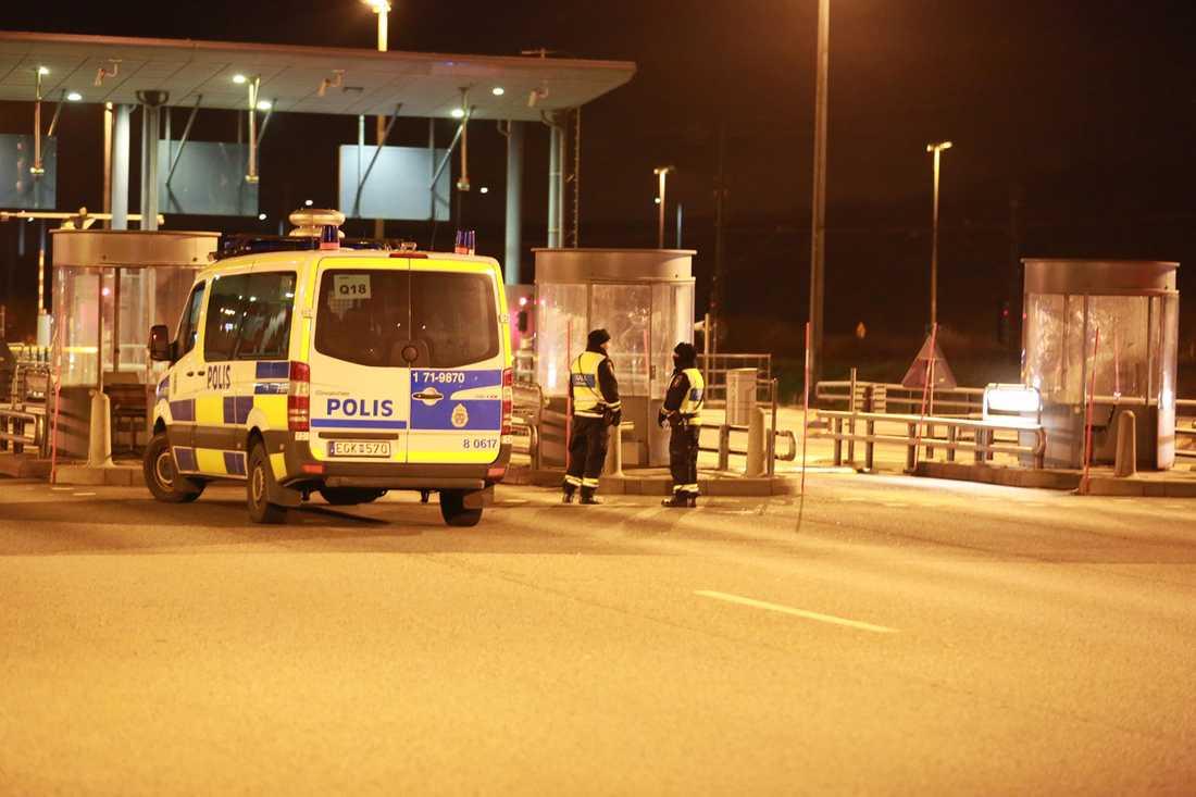 Gränskontroller på Öresundsbron.