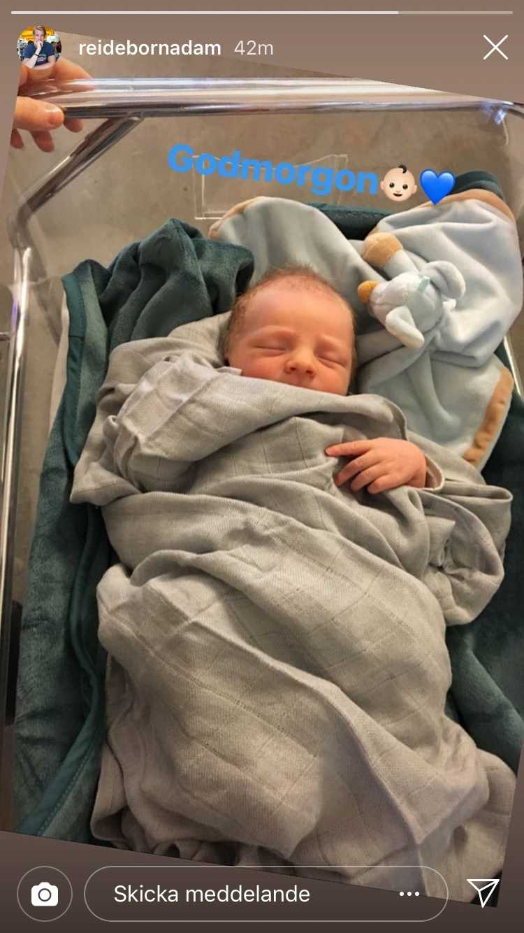 SHL-spelaren Adam Reideborn har fått en son
