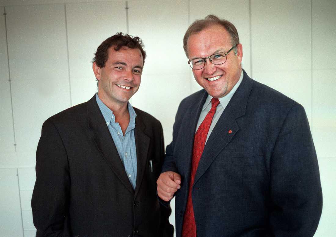 Med Göran Persson.