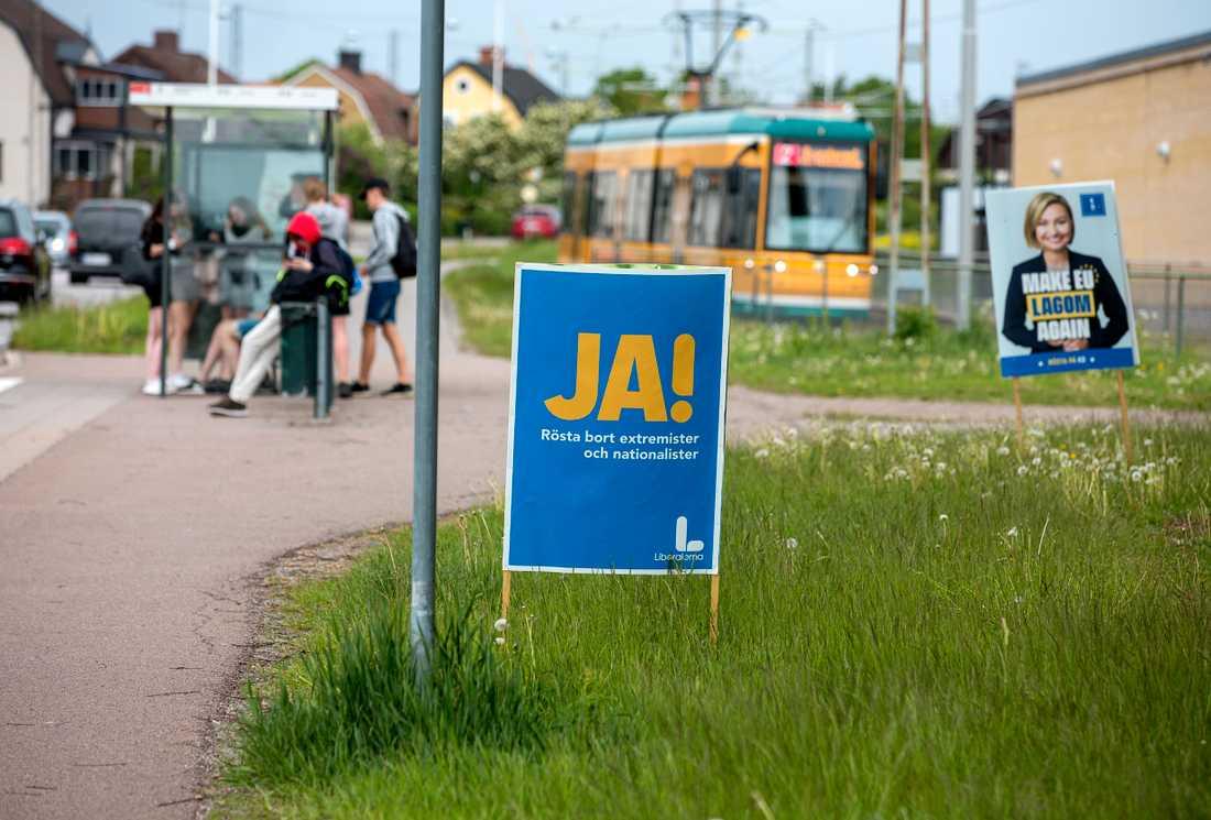 """Liberalerna brukar kallas för Sveriges EU-vänligaste parti. Enligt opinionsundersökningarna inför EU-valet är det dock risk att antalet som säger """"ja"""" till L är för få för att ge partiet en plats i parlamentet."""