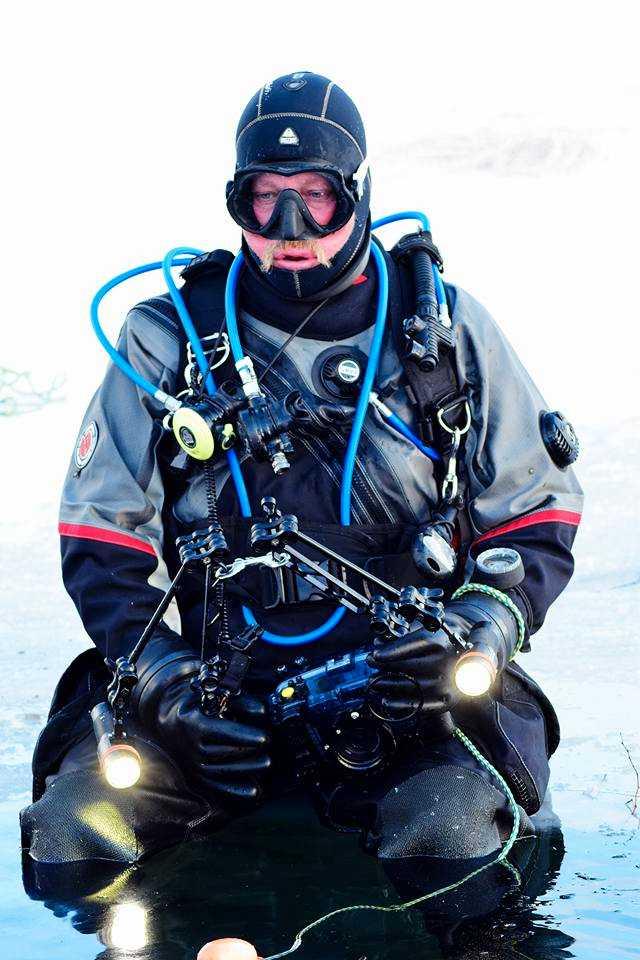 Jonny Magnusson, dykare vid sportdykarklubben Delfinen i Helsingborg.