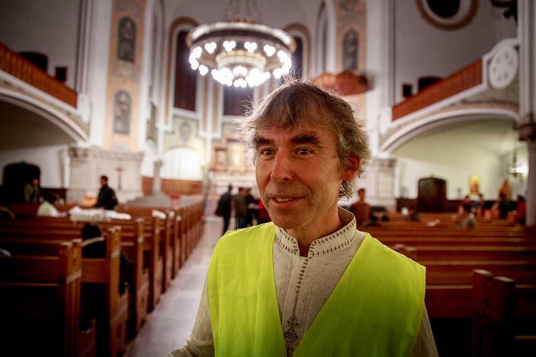 """Prästen Per Kristensson: """"Att vi skulle vara tvungna att fylla en kyrka för att staten inte klarar av det trodde jag aldrig."""""""