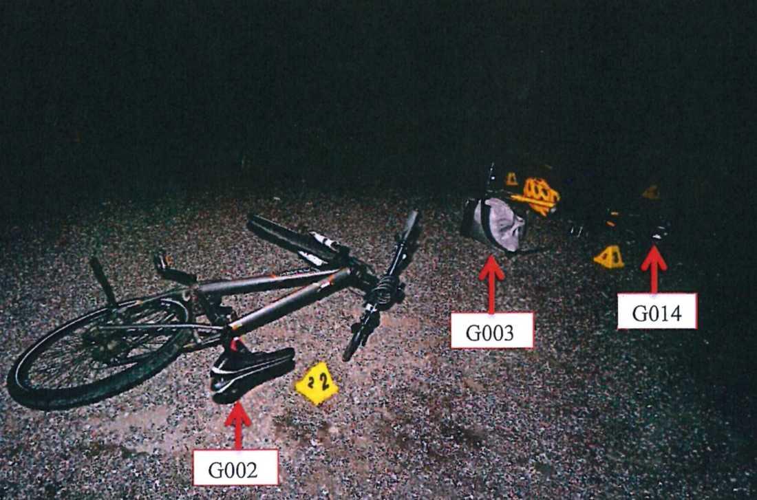Barndomskamraterna hade cyklat till platsen där mordet inträffade.