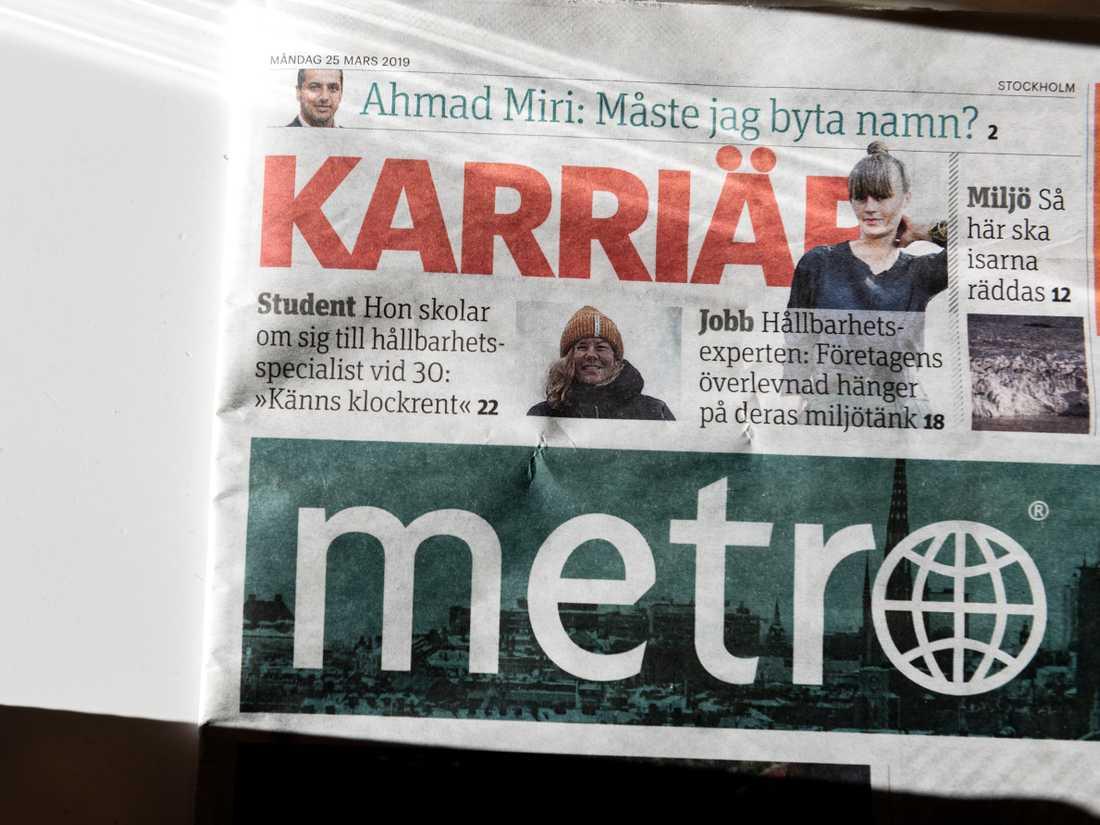Tidningen Metro läggs ned, enligt uppgifter till SVT. Arkivbild.