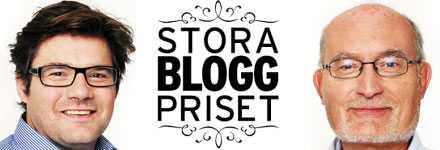 Aftonbladets chefredaktör Jan Helin och aftonbladet.se:s chefredaktör Kalle Jungkvist vill med Stora Bloggpriset premiera och inspirera Sveriges duktiga bloggare.