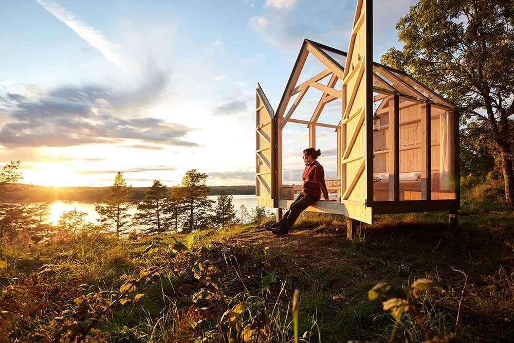Ett hus med glastak i Dalsland får dig att stressa ner.