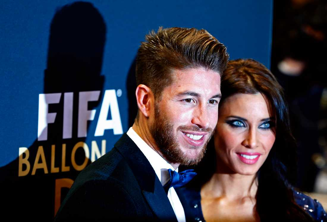 Sergio Ramos med flickvän.