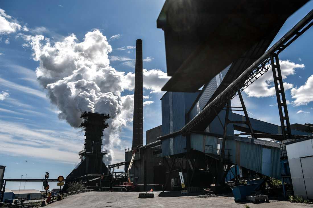 SSAB i Oxelösund släpper ut stora mängder koldioxid varje år.