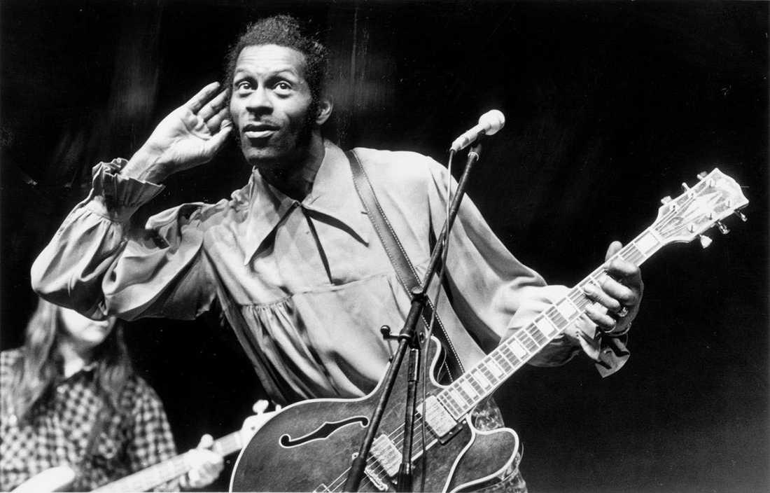 Chuck Berry uppträder i Göteborg 1973.
