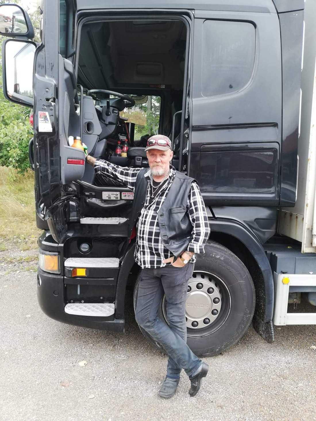 Christer Thynell startade lastbilschaufförernas insamling.