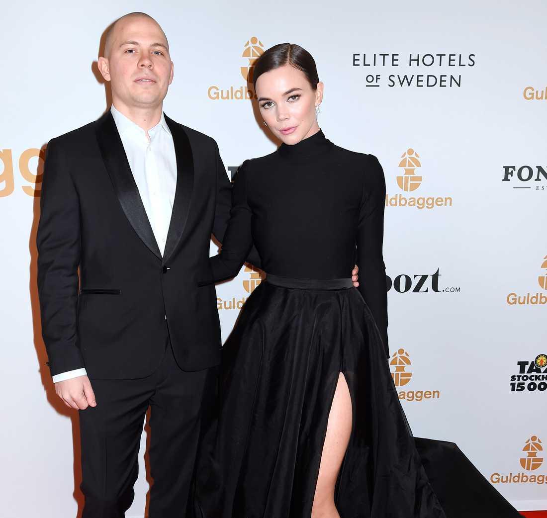Alexis Almström och Hedda Stiernstedt, 32, på Guldbaggegalan 2018.