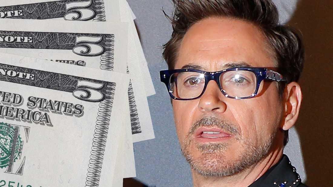 Robert Downey Jr får en handfull dollar för nya jobbet.