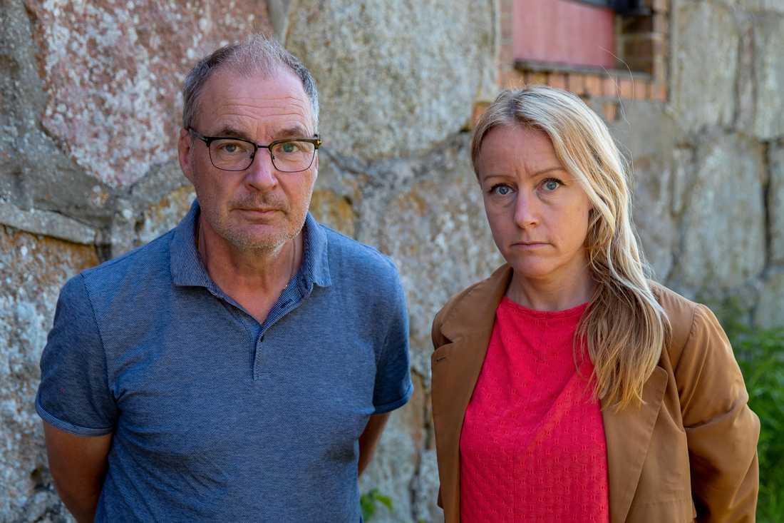 Aftonbladets Krister Hansson och Susanna Nygren.
