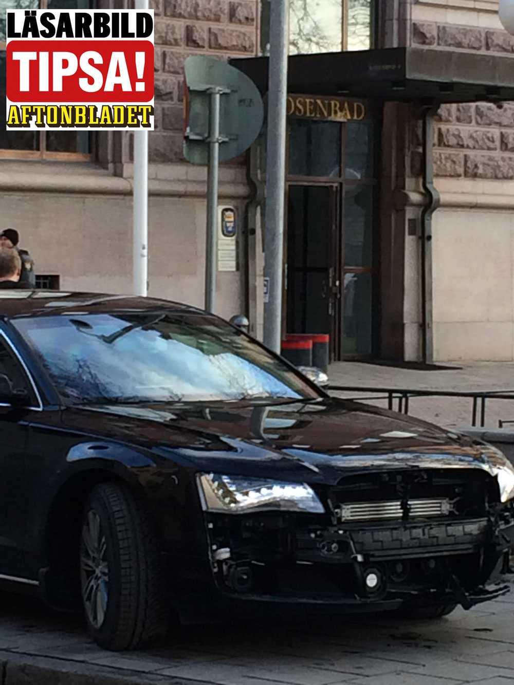 """Stefan Löfvens """"super-Audi"""" är specialutrustad och beställd av Säpo. Bland annat är den bepansrad och har skottsäkert glas."""
