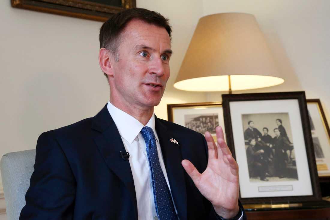 Storbritanniens utrikesminister Jeremy Hunt vill gärna bli premiärminister och ledare för Konservativa partiet.