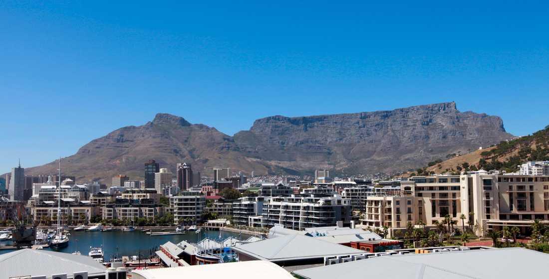 Det mäktiga Taffelberget i Kapstaden i Sydafrika. Arkivbild.