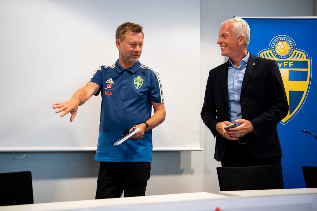 Gerhardsson vid dagens presskonferens.