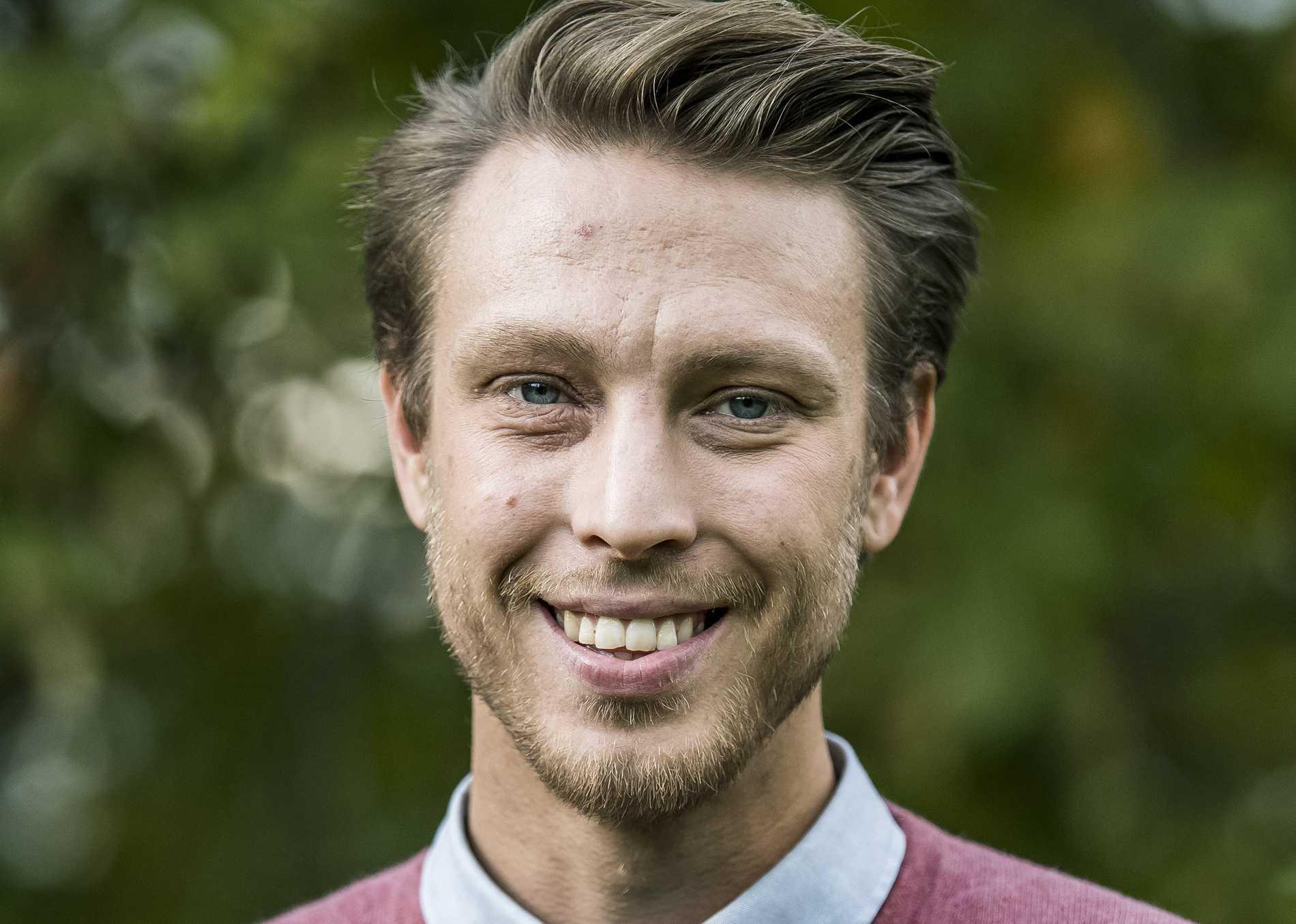 """Pelle Hansson Edh strax efter inspelningarna i """"Bonde söker fru"""", innan viktraset."""