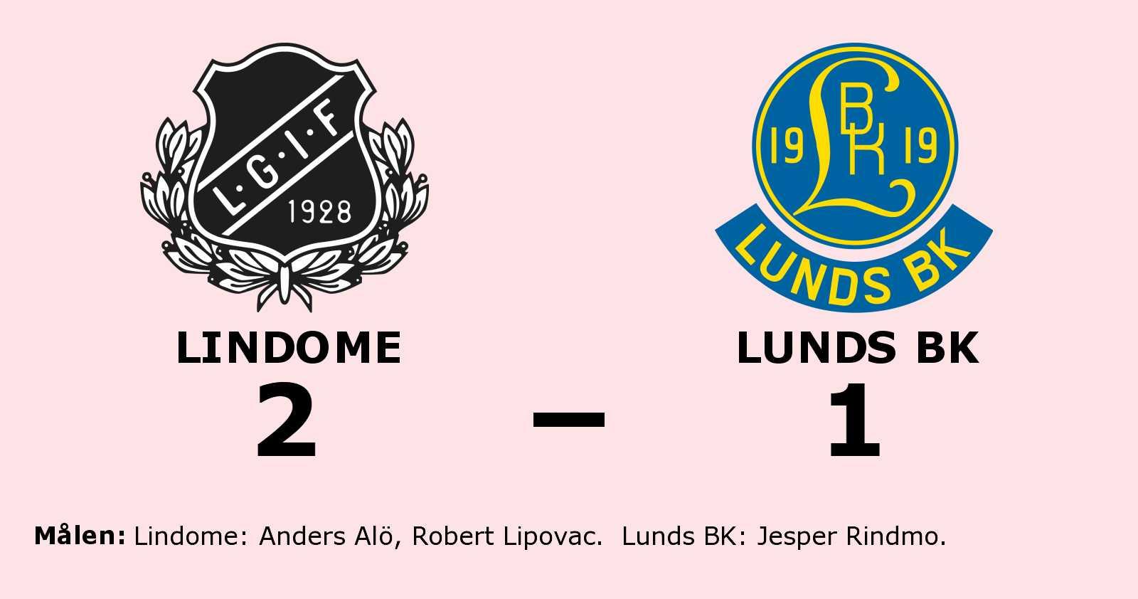Lindome avgjorde i andra halvlek mot Lunds BK