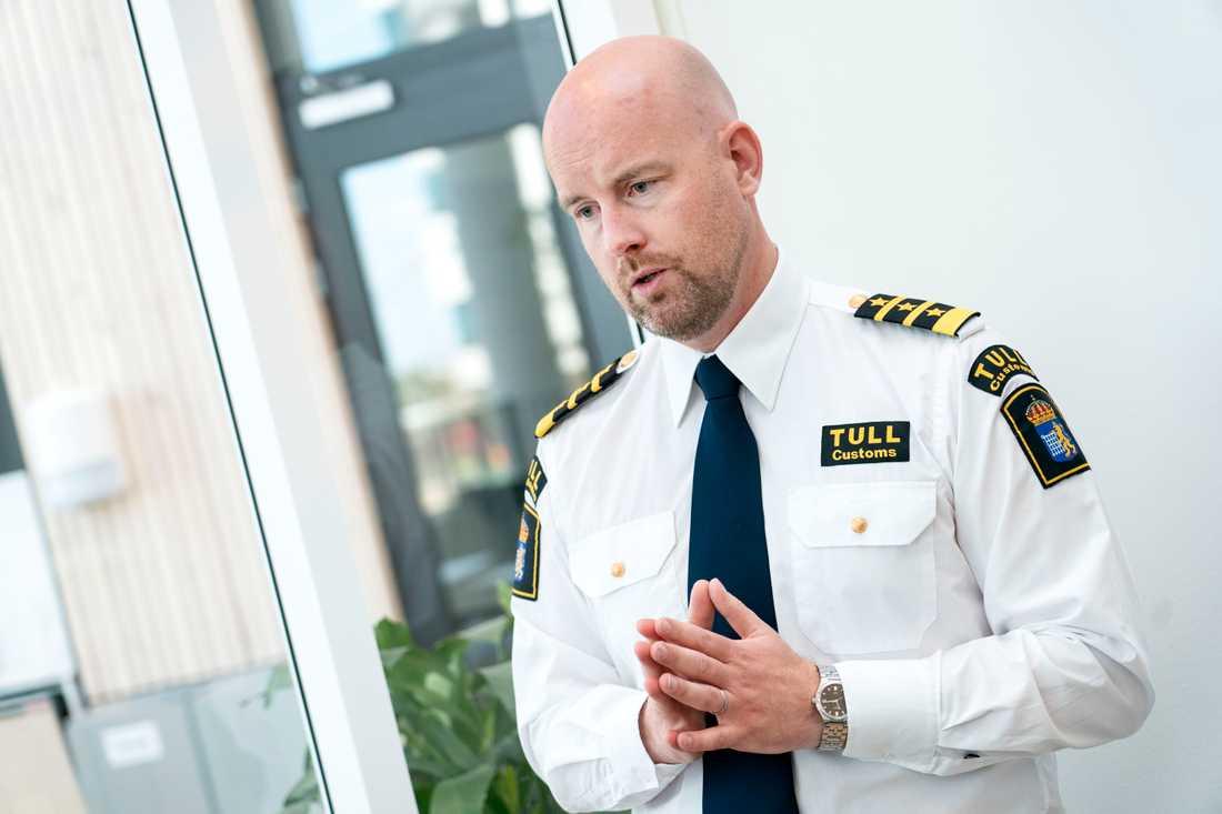 """""""Jag och många med mig är övertygade om att Sverige har en opioidepidemi"""", säger Oscar Lindvall, sektionschef på Tullverket i Region Syd. Arkivbild."""