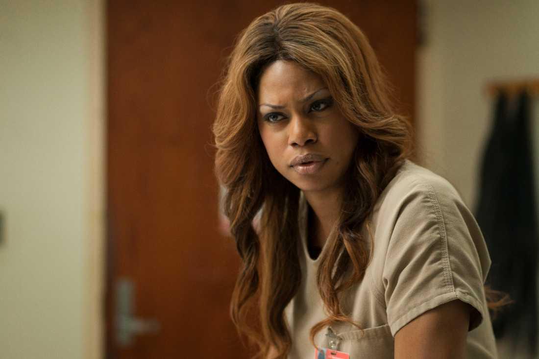 Transkvinnan Laverne Cox spelar en av huvudrollerna i serien Orange is the new black, vars andra säsong har premiär idag.