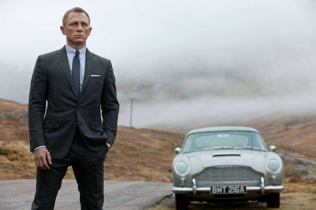 "Daniel Craig som James Bond i nya filmen ""Skyfall""."