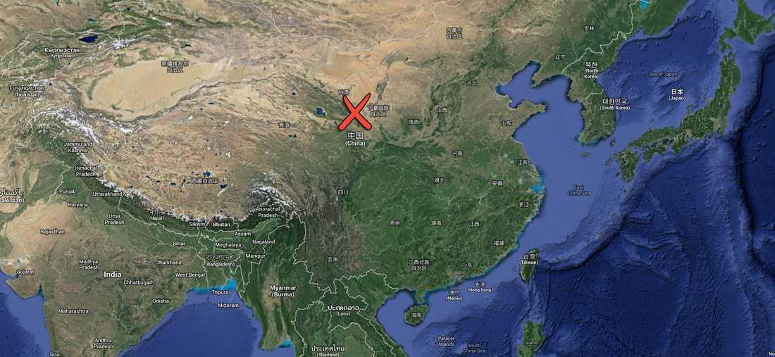 Gansu-provinsen i norra Kina drabbades hårdast av skalven.